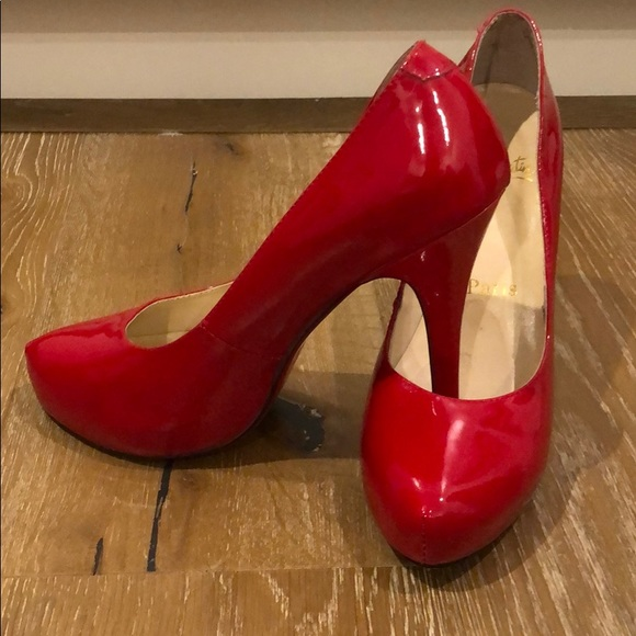 fc434113e70 Christian Louboutin Red Pantent Heels